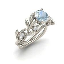 Fashion Silver Color Crystal Flower Vine Leaf Design Ring ( Assorted Sizes )