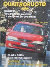 Quattroruote 480 1995 Nuova Opel Vectra.Bravo e Brava.Anteprima:Audi e Lancia