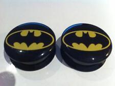 Pair Batman Superhero Ear Plugs Flesh Tunnel Tunnels Stretcher