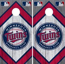 Minnesota Twins Cornhole Wrap MLB Vintage Game Board Skin Set Vinyl Decal CO418