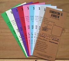 Wedding Wisdom Cards Scrolls Advice Bride Groom Favour Favor Table Games