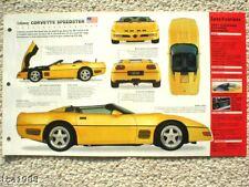 1991 CALLAWAY CORVETTE SPEEDSTER IMP Brochure