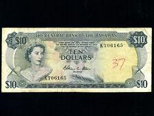 Bahamas:P-38b,10 Dollars,1974 * Queen Elizabeth * Allen
