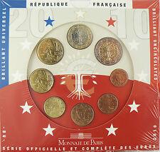 SERIE  FLEUR  DE  COIN  EURO  2010  , 8  MONNAIES  ,   BU  ,  RARE