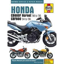 Workshop Manual Honda CB600F, FS Hornet 98-06, CBF600N, NA, S, SA 04-06