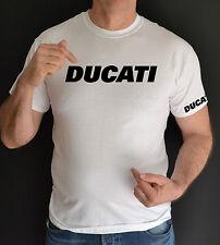 DUCATI, Bici, Moto, Bianco, t shirt
