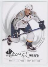 2009-10 SP Authentic #48 Shea Weber Nashville Predators Hockey Card
