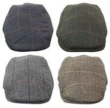 Casquette béret homme tweed à chevrons laine mélangée carreaux vintage rétro