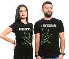 Best Buds Couple Shirts Marijuana Cannabis THC T-Shirt Birthday Gift Weed Tees