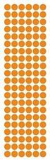 "3/8"" Light Orange Round Vinyl Color Code Inventory Label Dot Stickers"