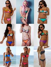 Padded Push-up Bikini Set UK Womens Swimsuit Bathing Suit Swimwear Beachwear