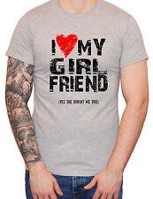 """""""i love cuore la mia ragazza"""" DA UOMO MAN BARZELLETTA Divertente T-Shirt Regalo di San Valentino"""
