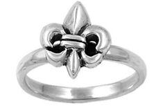 Sterling Silver Ring - Silver Ring - Fleur De Lise