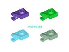 Modified 1x1 Clip Horizontal thick open O clip 61252 LEGO 10x Black Plate