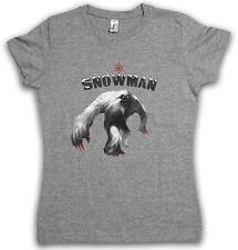 Yeti II T-shirt Femmes Monstre Bigfoot Creature Népal Snowman Himalaya Big Foot