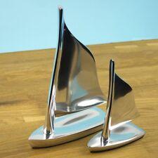 Aluminium Sailing Boat Dingy Yacht Sculpture Model Ornament 2 Sizes Available