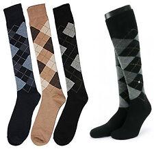 1,3,6 Pairs Mens Long Argyle Golf Diamond Knee Length Shoe Socks  Size 6-11