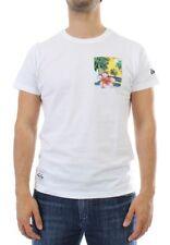 New Era Camiseta T-Shirt Hombre - Island Bolsillo - Blanco