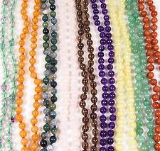 Edelstein Halskette Kugelkette + Verschluss Ø 6 + 9 mm ball chain precious stone