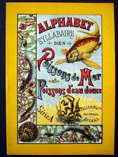 Vintage Book Alphabet Syllabaire des Poissons de Mer et d'Eau Douce Inv1522