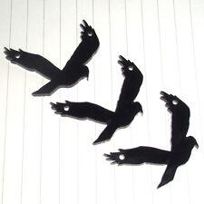Halloween Spooky Evil Crow Bird charms pendants x 3 kitsch Fancy Dress Costume