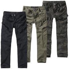 Brandit Adven Slim Fit Cargo Pantalones S-XXL Estilo Ejército Exterior Vintage