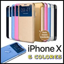 FUNDA FLIP COVER S VIEW PARA IPHONE X CON TAPA LIBRO VENTANA CARCASA