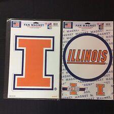 NCAA Illinois Fighting Illini Block I or 3 Pack Magnet Set