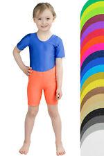 Kinder Radler Radlerhose Glanz Turnhose shorts stretch kurze Sporthose 104-176