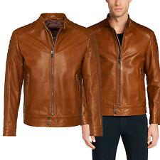 DE Herren Lederjacke Biker Men's Leather Jacket Coat Homme Veste En cuir R116