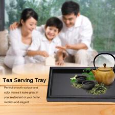 Madera Maciza Rectangular Bandeja de Té Cáfe Bocadillos Frutas Tea Serving Tray