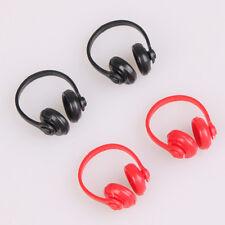 2Pcs 1/12 Dollhouse miniatures plastic earphone headphone doll house decor>s