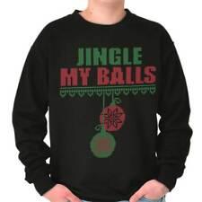 Jingle My Balls Funny Christmas Shirt   Bells Naughty Santa Crewneck Sweatshirt