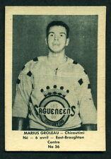 1952 53 LAVAL DAIRY QHL HOCKEY 36 Marius Groleau EX+ Chicoutimi