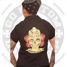 Dragstrip Clothing Rock N Roll Diner Shirt V8 Zombie Brain Rock N Roll Lucky 13