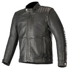 Alpinestars Crazy Eight Leather Motorcycle Motorbike Jacket Black   All Sizes
