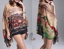 AU SELLER Oversize Chiffon Kaftan Top Blouse Shirt/Beach Kimono Cover UP sw075