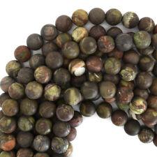 "Matte Australian Agate Round Beads Gemstone 15.5"" Strand 6mm 8mm 10mm 12mm"