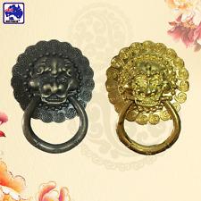 2pcs Vintage Lion Head Shape Door Knocker Bronze/Golden Door Pull Decor TENH618