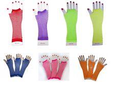 Netzhandschuhe  Party Kostüm passend zu Tütü  Fishnet Gloves NEON usw.  NEU