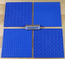 "Lego - 16x16 Dots (5""x5"") Blue Baseplate - 91405 Thick Base Plate Flat City Lot"