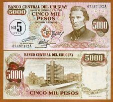 Uruguay, 5 Nuevos Pesos on 5000 Pesos, (1975), P-57, UNC
