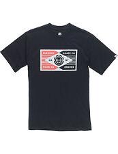 Elemento spina Manica Corta T-Shirt Nero a Flint