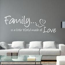 Wandtattoo AA027 Wohnzimmer Schlafzimmer Spruch FAMILY is Wandaufkleber Familie