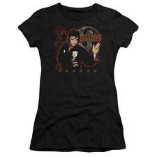 Elvis Presley Juniors T-Shirt Karate Black Tee