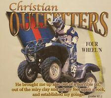 CHRISTIAN OUTFITTERS 4 WHEELERS PSALMS 40:2 JESUS SHIRT #1186