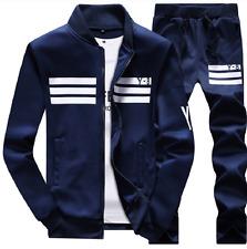 Varsity Sweatshirt+Pants Track Baseball Jacket Coats Sweat Suits Sportswear Mens