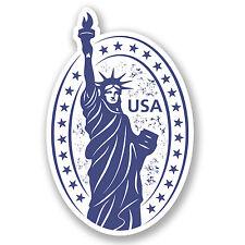 2 x USA AMERICA ADESIVO AUTO MOTO NOTEBOOK IPAD NEW York Statua della Libertà # 4229