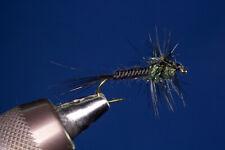 Fliegentom 3 Stück UV-Montana Nymphe Pfauenfarbig