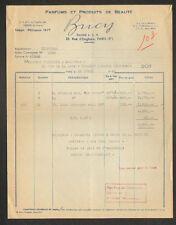 """PARIS (X°) PARFUMERIE & PRODUITS COSMETIQUES """"Parfum BUCY / Sté L.C.A."""" en 1949"""